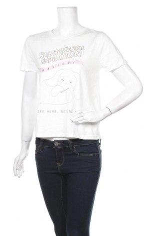 Γυναικείο t-shirt Oysho, Μέγεθος M, Χρώμα Λευκό, 52% μοντάλ, 48% βαμβάκι, Τιμή 4,42€