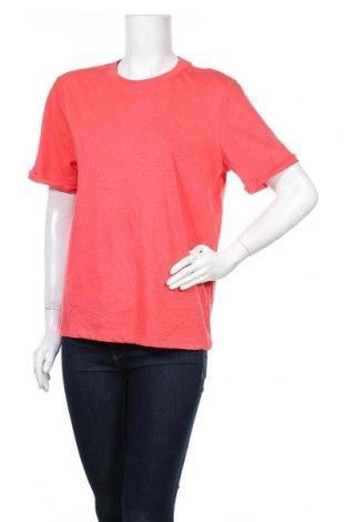Γυναικείο t-shirt Pieces, Μέγεθος XL, Χρώμα Κόκκινο, 50% βαμβάκι, 50% πολυεστέρας, Τιμή 6,20€