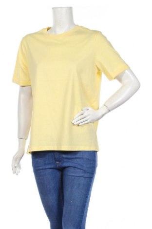 Дамска тениска Pieces, Размер XL, Цвят Жълт, 100% памук, Цена 29,00лв.