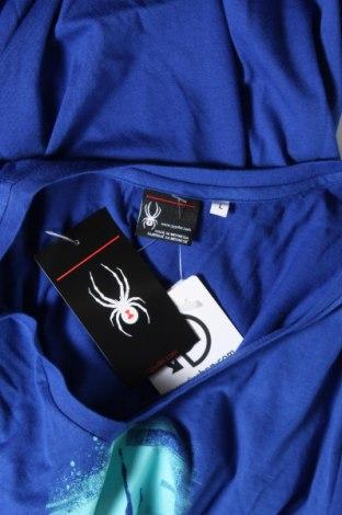 Дамска тениска Spyder, Размер L, Цвят Син, 60% памук, 40% полиестер, Цена 38,35лв.