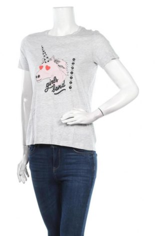 Дамска тениска Undiz, Размер S, Цвят Сив, 95% памук, 5% еластан, Цена 38,00лв.