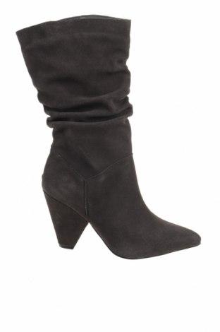 Γυναικείες μπότες Mohito, Μέγεθος 38, Χρώμα Γκρί, Φυσικό σουέτ, Τιμή 29,60€