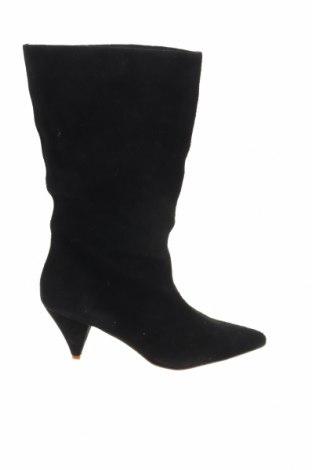 Γυναικείες μπότες Mohito, Μέγεθος 38, Χρώμα Μαύρο, Φυσικό σουέτ, Τιμή 29,78€