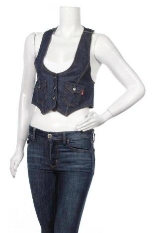 Дамски елек Lee Cooper, Размер M, Цвят Син, 98% памук, 2% еластан, Цена 6,83лв.