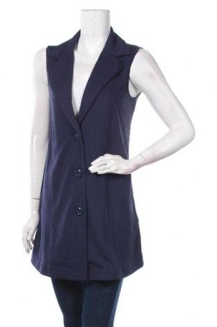 Дамски елек TWINSET, Размер S, Цвят Син, 65% памук, 35% полиамид, Цена 112,77лв.
