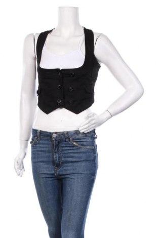 Дамски елек Tally Weijl, Размер XS, Цвят Черен, 98% памук, 2% еластан, Цена 5,78лв.