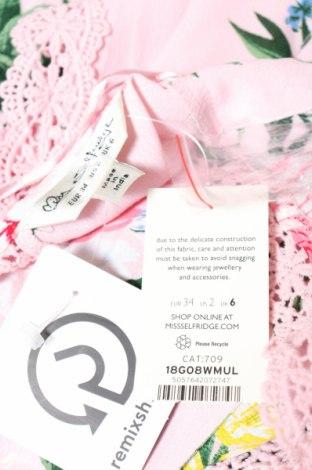 Дамски гащеризон Miss Selfridge, Размер XS, Цвят Розов, Вискоза, Цена 15,64лв.