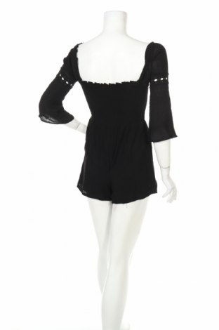 Дамски гащеризон Miss Selfridge, Размер XS, Цвят Черен, Вискоза, Цена 22,77лв.