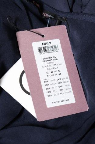 Дамски гащеризон ONLY, Размер L, Цвят Син, Полиестер, Цена 26,22лв.
