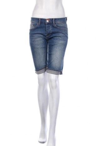 Γυναικείο κοντό παντελόνι, Μέγεθος S, Χρώμα Μπλέ, 98% βαμβάκι, 2% ελαστάνη, Τιμή 12,47€