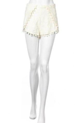 Γυναικείο κοντό παντελόνι Guess, Μέγεθος M, Χρώμα Εκρού, 78% βαμβάκι, 22% πολυαμίδη, Τιμή 25,52€