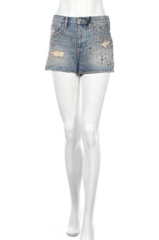 Дамски къс панталон Juicy Couture, Размер S, Цвят Син, 100% памук, Цена 71,40лв.