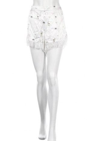 Дамски къс панталон Mint & Berry, Размер L, Цвят Бял, Вискоза, Цена 34,20лв.