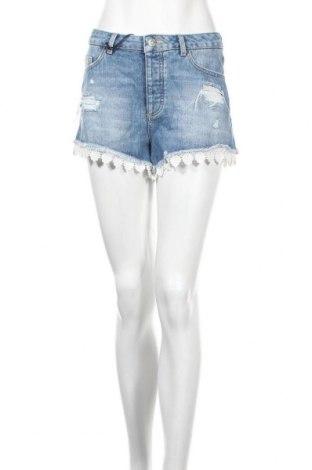 Дамски къс панталон Miss Selfridge, Размер M, Цвят Син, Памук, Цена 22,00лв.