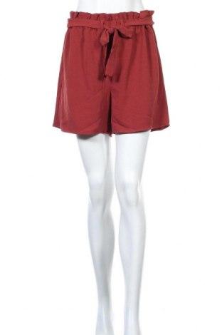 Pantaloni scurți de femei ONLY, Mărime L, Culoare Roșu, 97% poliester, 3% elastan, Preț 14,88 Lei