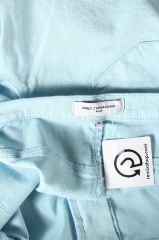 Γυναικείο κοντό παντελόνι Only Carmakoma, Μέγεθος 3XL, Χρώμα Μπλέ, 65% βαμβάκι, 33% μοντάλ, 2% ελαστάνη, Τιμή 14,20€