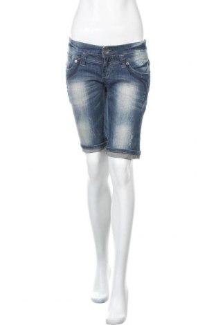Дамски къс панталон Sublevel, Размер S, Цвят Син, 97% памук, 3% еластан, Цена 22,00лв.
