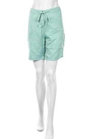 Дамски къс панталон TWINSET, Размер L, Цвят Зелен, 60% коприна, 40% памук, Цена 77,40лв.