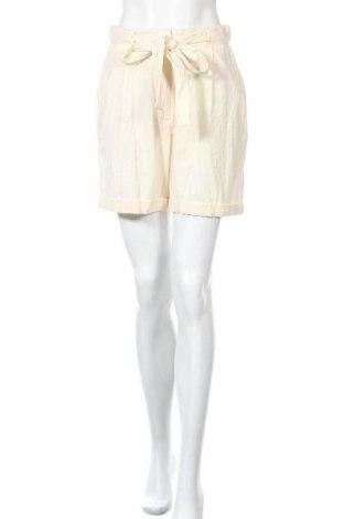 Γυναικείο κοντό παντελόνι Y.A.S, Μέγεθος S, Χρώμα  Μπέζ, 85% βαμβάκι, 15% λινό, Τιμή 7,54€