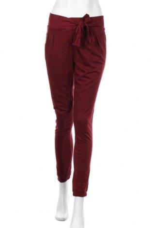Дамски панталон Camaieu, Размер S, Цвят Червен, 68% вискоза, 32% памук, Цена 31,20лв.