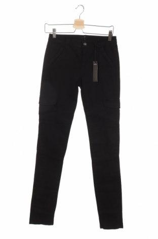 Дамски панталон IKKS, Размер XS, Цвят Черен, 97% памук, 3% еластан, Цена 24,30лв.