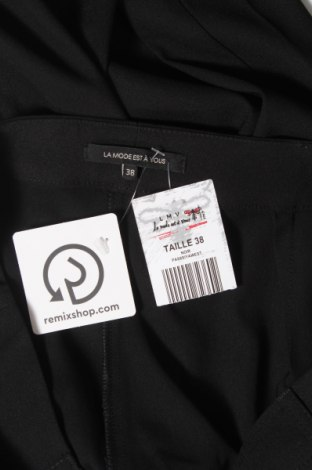Дамски панталон La Mode Est A Vous, Размер M, Цвят Черен, 96% полиестер, 4% еластан, Цена 17,25лв.