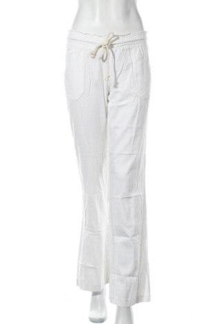 Γυναικείο παντελόνι Roxy, Μέγεθος M, Χρώμα Λευκό, 55% λινό, 45% βισκόζη, Τιμή 16,33€