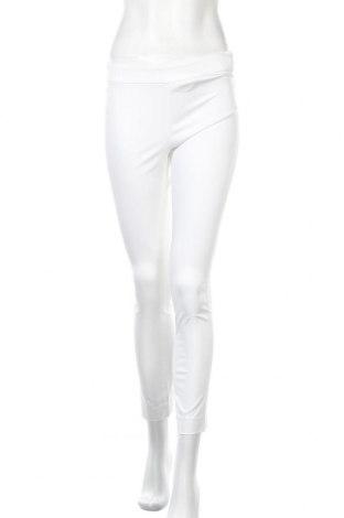 Дамски панталон Stefanel, Размер XS, Цвят Бял, 56% памук, 39% модал, 5% еластан, Цена 23,92лв.