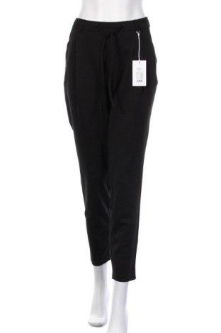 Γυναικείο παντελόνι Zizzi, Μέγεθος L, Χρώμα Μαύρο, 67% βισκόζη, 28% πολυεστέρας, 5% ελαστάνη, Τιμή 23,12€