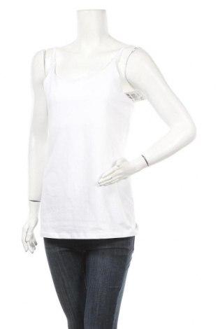 Γυναικείο αμάνικο μπλουζάκι Belly Button, Μέγεθος L, Χρώμα Λευκό, 95% βαμβάκι, 5% ελαστάνη, Τιμή 16,24€