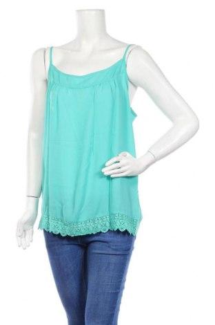 Γυναικείο αμάνικο μπλουζάκι Best Mountain, Μέγεθος L, Χρώμα Πράσινο, Βαμβάκι, Τιμή 5,44€