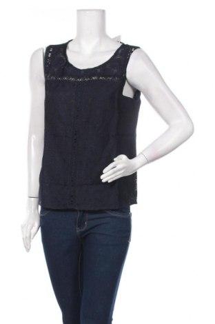 Γυναικείο αμάνικο μπλουζάκι Cream, Μέγεθος M, Χρώμα Μπλέ, 55% βαμβάκι, 45% πολυαμίδη, Τιμή 11,74€
