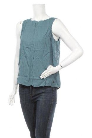 Γυναικείο αμάνικο μπλουζάκι DDP, Μέγεθος M, Χρώμα Μπλέ, 100% βισκόζη, Τιμή 5,20€