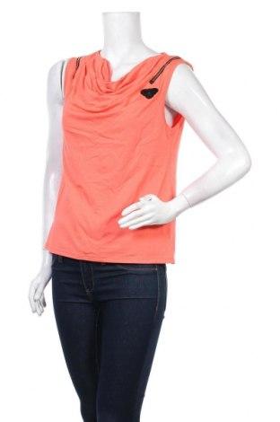 Γυναικείο αμάνικο μπλουζάκι La Mode Est A Vous, Μέγεθος M, Χρώμα Πορτοκαλί, 92% βισκόζη, 8% ελαστάνη, Τιμή 7,54€