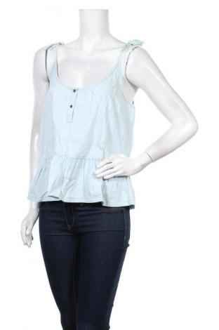 Γυναικείο αμάνικο μπλουζάκι Lefties, Μέγεθος L, Χρώμα Μπλέ, Βαμβάκι, Τιμή 6,20€