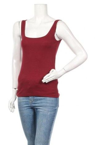 Γυναικείο αμάνικο μπλουζάκι Lefties, Μέγεθος M, Χρώμα Κόκκινο, Βαμβάκι, Τιμή 5,32€