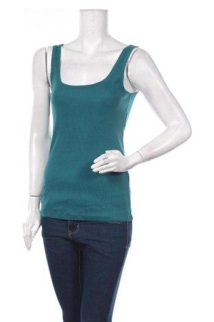 Γυναικείο αμάνικο μπλουζάκι Lefties, Μέγεθος M, Χρώμα Μπλέ, Βαμβάκι, Τιμή 5,32€