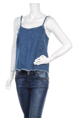 Γυναικείο αμάνικο μπλουζάκι Lefties, Μέγεθος M, Χρώμα Μπλέ, Βαμβάκι, Τιμή 6,20€
