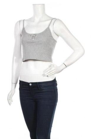 Γυναικείο αμάνικο μπλουζάκι Lefties, Μέγεθος M, Χρώμα Γκρί, 55% πολυεστέρας, 45% βαμβάκι, Τιμή 4,65€