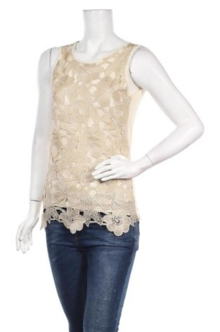 Γυναικείο αμάνικο μπλουζάκι Molly Bracken, Μέγεθος M, Χρώμα Κίτρινο, 97% πολυεστέρας, 3% ελαστάνη, Τιμή 12,73€