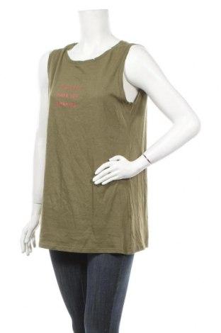 Γυναικείο αμάνικο μπλουζάκι Molly Bracken, Μέγεθος M, Χρώμα Πράσινο, 50% βαμβάκι, 50% λινό, Τιμή 14,02€
