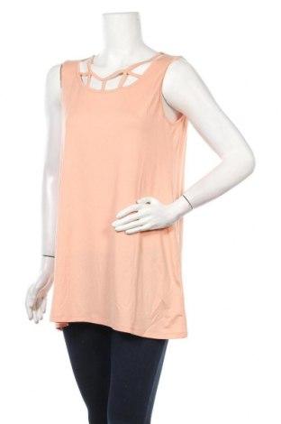 Γυναικείο αμάνικο μπλουζάκι Myrine, Μέγεθος XL, Χρώμα Ρόζ , 96% τενσελ, 4% ελαστάνη, Τιμή 8,25€