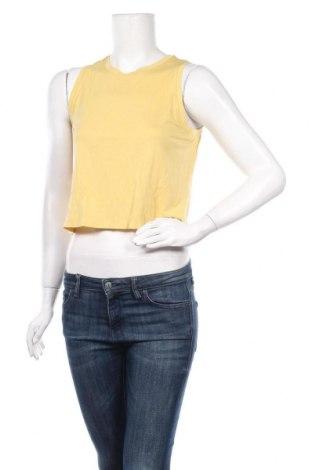 Γυναικείο αμάνικο μπλουζάκι Oysho, Μέγεθος S, Χρώμα Κίτρινο, 79% πολυεστέρας, 21% ελαστάνη, Τιμή 3,79€