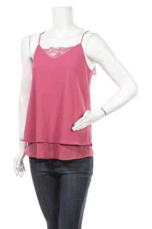 Γυναικείο αμάνικο μπλουζάκι Pieces, Μέγεθος M, Χρώμα Ρόζ , Πολυεστέρας, Τιμή 4,78€
