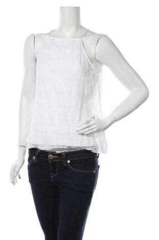 Γυναικείο αμάνικο μπλουζάκι Sisley, Μέγεθος S, Χρώμα Λευκό, 99% βαμβάκι, 1% ελαστάνη, Τιμή 7,05€