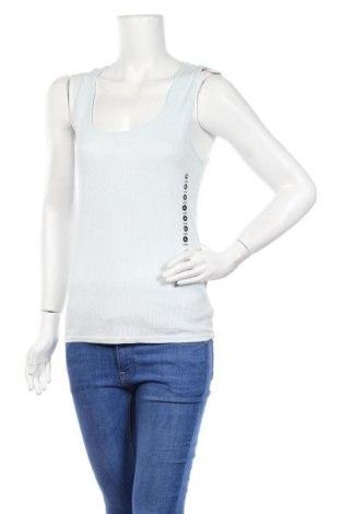 Γυναικείο αμάνικο μπλουζάκι Undiz, Μέγεθος XL, Χρώμα Μπλέ, 60% βαμβάκι, 40% πολυεστέρας, Τιμή 4,19€
