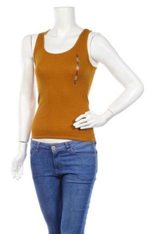 Γυναικείο αμάνικο μπλουζάκι Undiz, Μέγεθος S, Χρώμα Κίτρινο, 60% βαμβάκι, 40% πολυεστέρας, Τιμή 4,19€