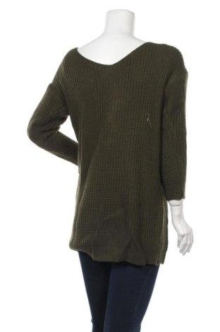 Дамски пуловер, Размер M, Цвят Зелен, Акрил, Цена 11,80лв.