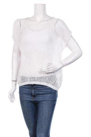 Дамски пуловер, Размер L, Цвят Бял, 40% лен, 35% памук, 25% полиамид, Цена 5,51лв.