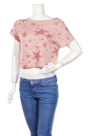 Дамски пуловер, Размер M, Цвят Розов, 75% акрил, 10% вълна, 10% вискоза, 5% вълна от алпака, Цена 7,35лв.